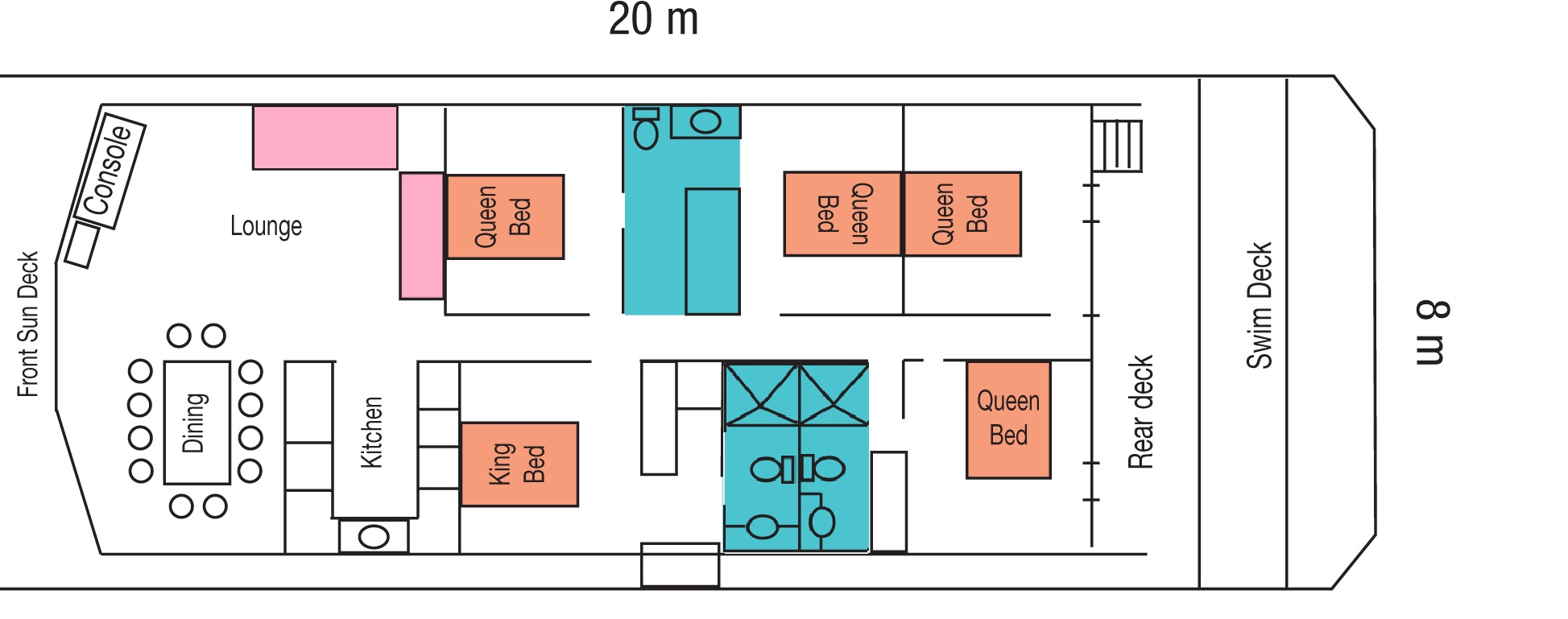 Unforgettable 2 - Floor Plan (20m x 8m)