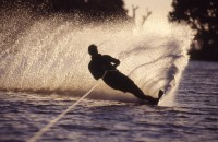 Try your hand at Water Skiing